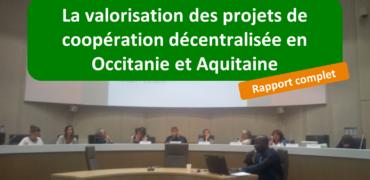 Etude sur les actions de communication et de valorisation des projets de coopération décentralisée en Occitanie et Aquitaine